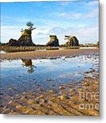 Three Brothers Rock Formation Near The Oregon Coast Metal Print