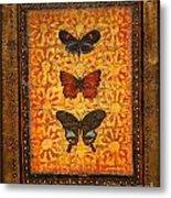 Three Butterflies Two Metal Print