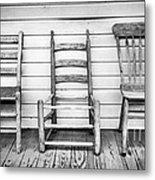 Three Chair Porch Metal Print