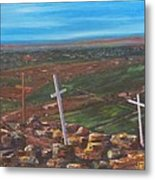 Three Crosses Of Tome Hill Metal Print by Judy Lybrand
