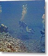 Three Divers In Hawaii Metal Print