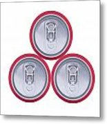 Three Drink Cans Metal Print
