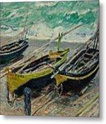 Three Fishing Boats Monet 1886 Metal Print