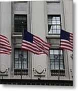 Three Flags Together On 5th Avenue Metal Print