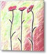 Three Flowers Metal Print by Scott Ware