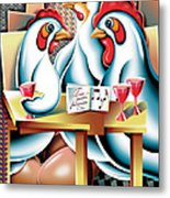 Three French Hens After Picasso Metal Print