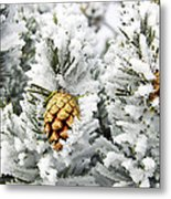 Three Frosty Cones Metal Print