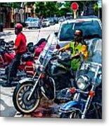 Three Guys On Bikes Metal Print