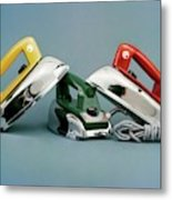 Three Irons By Casco Products Metal Print