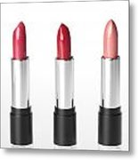 Three Lipsticks Metal Print