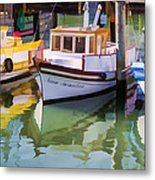 Three Little Boats Metal Print