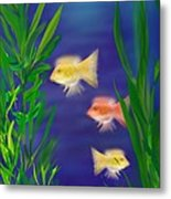Three Little Fish Metal Print