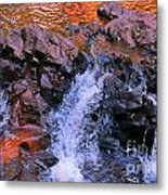 Three Little Forks In The Waterfall Metal Print