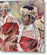 Three Mamas From Tahiti Metal Print