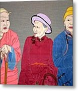 Three Mongolians Metal Print