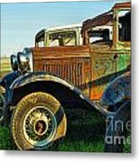 Three Old Fords Metal Print