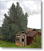 Three Old Sheds Metal Print by Charlette Miller