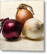 Three Onions - 1 Metal Print