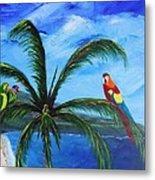 Three Parrots Metal Print