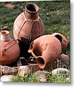Three Pots Metal Print by Claudette Bujold-Poirier