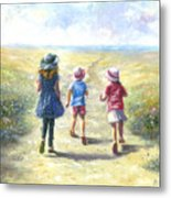 Three Sisters Beach Path Metal Print