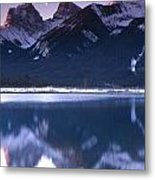 Three Sisters With Crescent Moon Metal Print