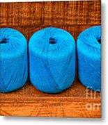 Three Skeins Of Knitting Yarn Metal Print