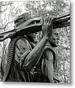 Three Soldiers In Vietnam Metal Print by Cora Wandel