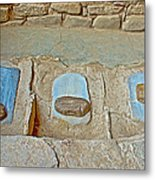 Three Stones For Grinding Corn In Spruce Tree House In Mesa Verde National Park-colorado Metal Print