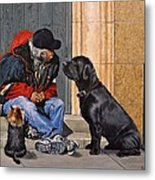 Three Strays Metal Print
