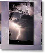 Three Strikes Lightning Metal Print