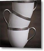 Three Tea Cups Metal Print