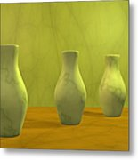 Three Vases II Metal Print