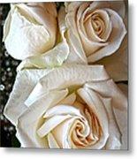 Three White Roses Metal Print