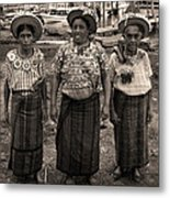 Three Women In Atitlan Metal Print