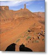 Three Women Mountain Biking In Moab Metal Print