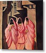 Three Women On The Street Of Baghdad Metal Print