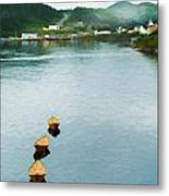 Three Yellow Boats Metal Print
