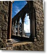 Through Castle Walls Metal Print