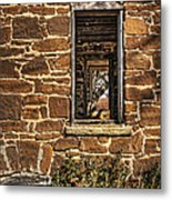 Through Doors And Windows - Abandoned House Metal Print
