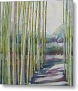 Through The Bamboo Grove Metal Print