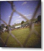Through The Fence Pastel Chalk 2 Metal Print