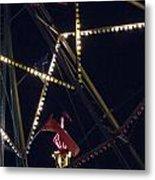 Through The Ferris Wheel Metal Print
