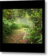 Through The Forest At Water's Edge Metal Print