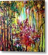 Through The Forest  Metal Print by Michelle Dommer