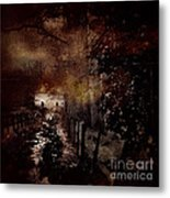 Through The Forest Path Metal Print