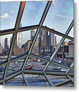 Through The Glass At Philly Metal Print