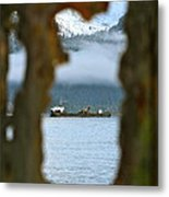 Through The Hole Metal Print