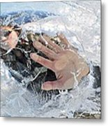 Through The Ice Metal Print