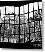 Through The Monastery Window Metal Print